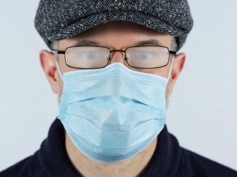 masques lunettes antibuée