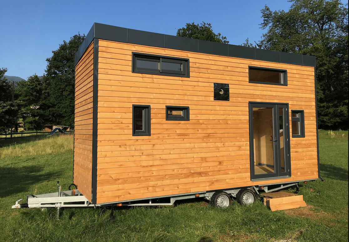 remorque de tiny house en Savoie
