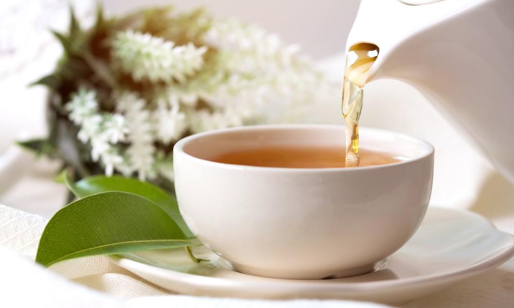 service de thé blanc